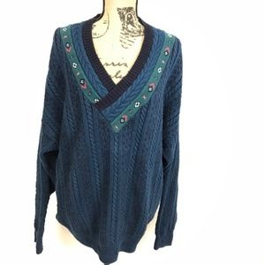 Vintage Woolrich Oversized Cable Knit Sweater
